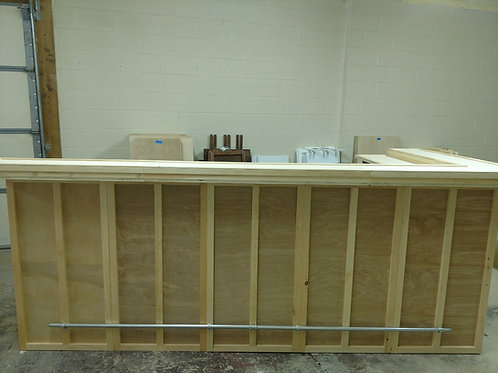 Home Bar Furniture 120x24x42 & 36x24x42 Side w/ 2 Level Top