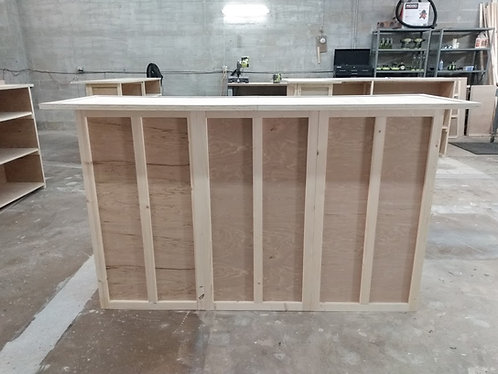 Home Bar Furniture 72x24x42, Shelving, Foot Rail, Ship Incl
