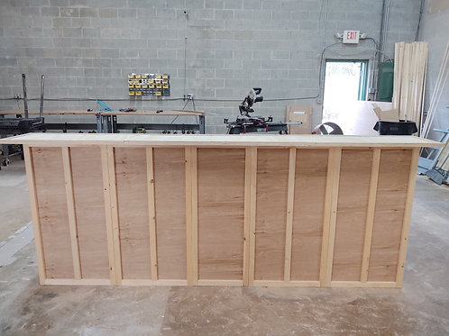 Home Bar Furniture 120x24x42 with 36x24x36 Side Extension
