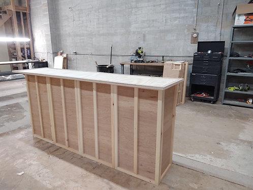 Home Bar Furniture 96x24x42, Shelving, Stemware Rack