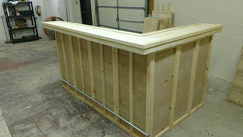 "Home Bar Furniture, 96x24x42 & 36"" Side Ext., Keg Hole 2.5"""