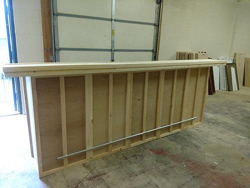 Home Bar Furniture 120x24x42, 2 Level Top