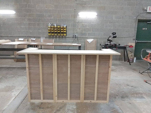 Home Bar Furniture 96x24x42 with Serving Level and Guest Level