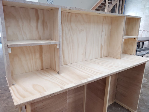 "Home Bar Furniture, 96"" Back Bar, Wet Bar, Shelving and appliance storag"