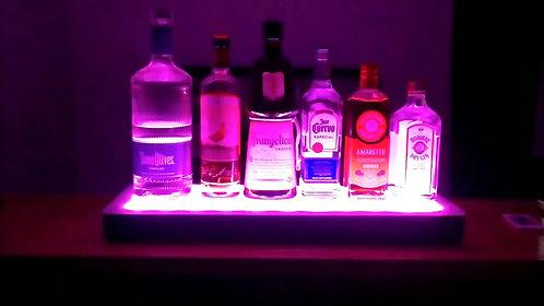 LED Illuminated Bottle Shelf for Home Bars, Entertaining