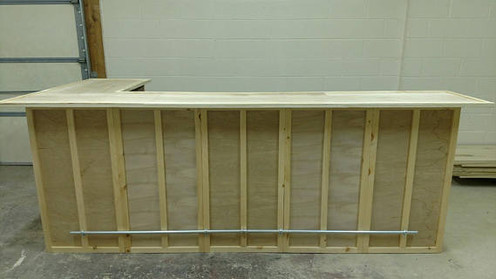 Home Bar Furniture 120x24x42 with 36x24x42 Side Extension, S&H Incl