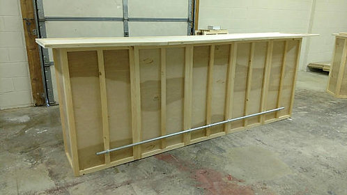 Custom Home Bar, Handmade, 120x24x42