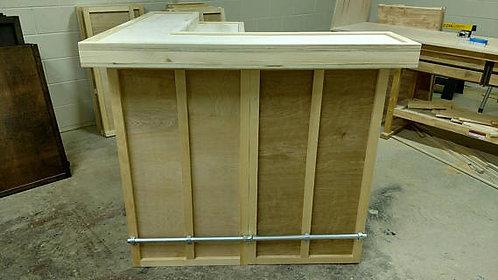 Home Bar Furniture 48x24x42 bi level, w/ 24x24x42 Side Ext.