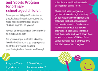 After-School Programs - Commencing Term 1 2016