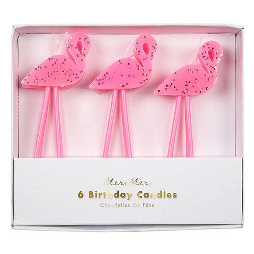 Velas Flamingos
