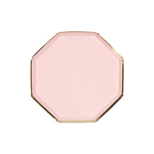 Prato Rosa e Dourado