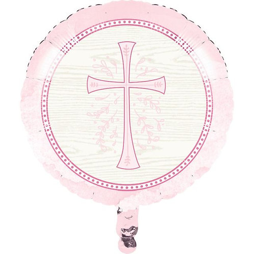 Balão Primeira Comunhão Rosa 45cm