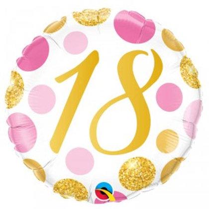 Balão 18 bolas rosa e dourado
