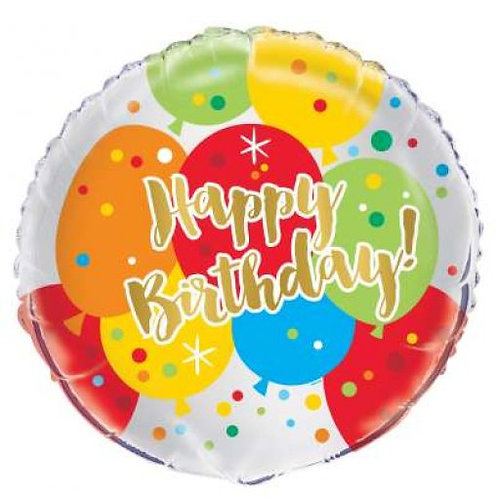 Balão Happy Birthday Balões 46cm