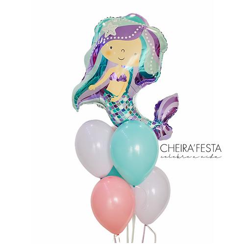 Arranjo de Balões Sereia