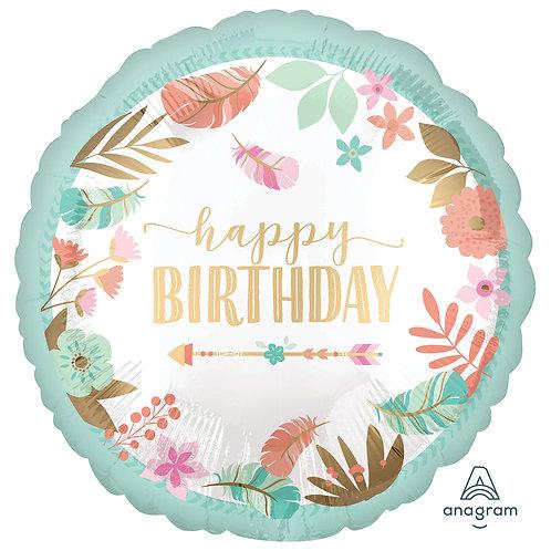 Balão Happy Birthday 43cm