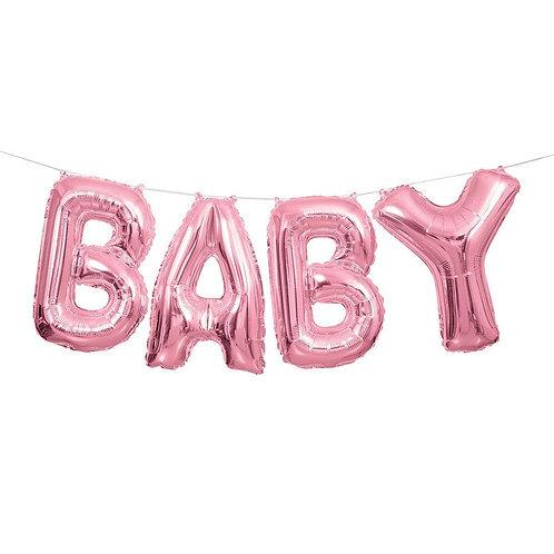 Balão Baby Rosa 2.74m