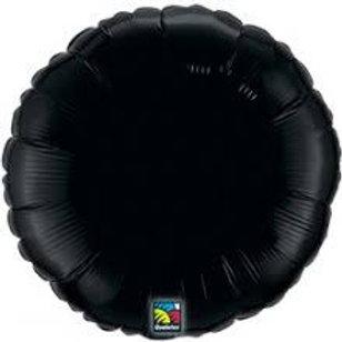 Balão Redondo Preto Foil