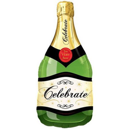 Balão Garrafa de Champagne Celebrate 99cm