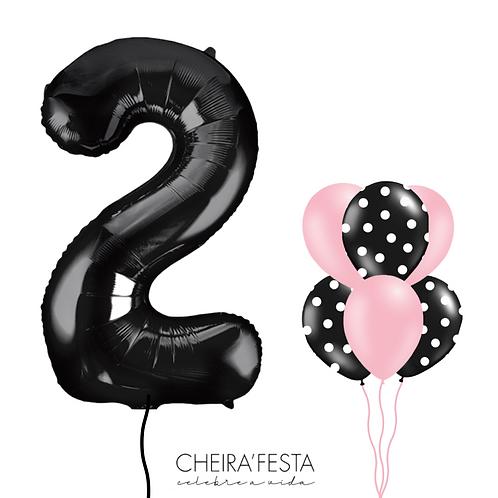 Balão Número Preto