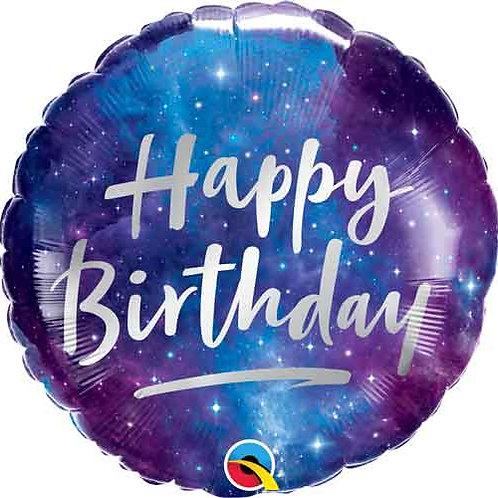 Balão Happy Birthday Galático 46cm