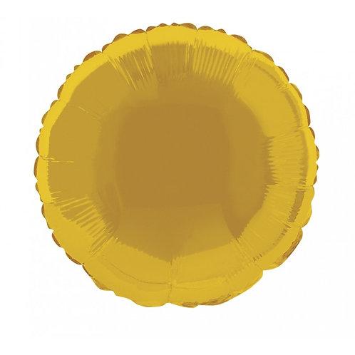 Balão Redondo Dourado Foil
