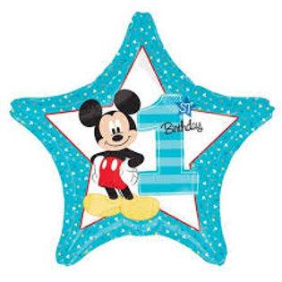 Balão 1 ano Mickey Estrela