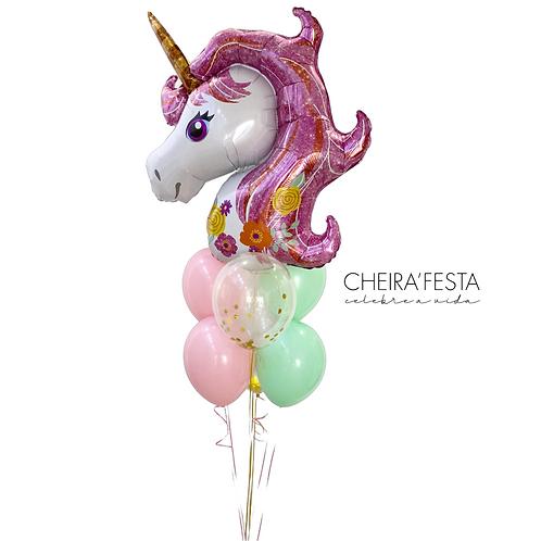 Arranjo balões Unicórnio Pastel