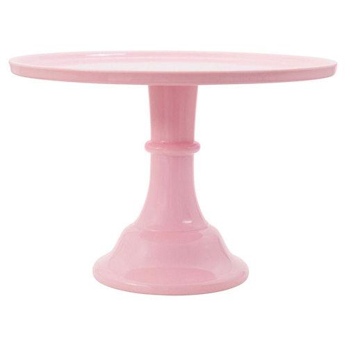 Prato de bolo: Grande - Rosa