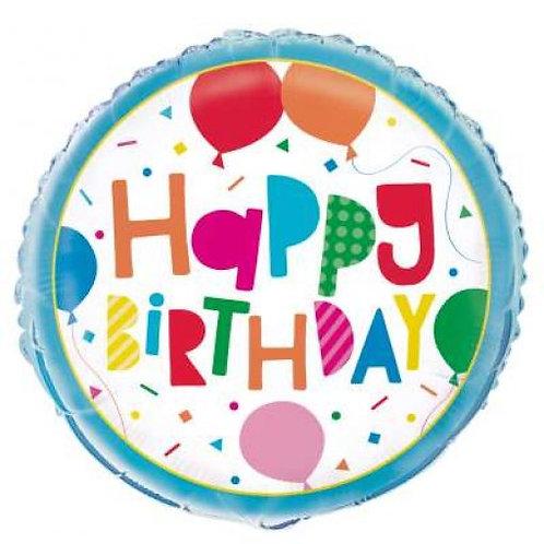 Balão Happy Birthday Balões 46 cm