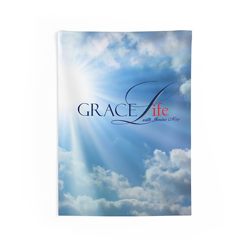 Grace Life Sky Indoor Wall Tapestries