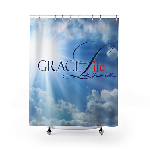 Grace Life Sky Shower Curtain