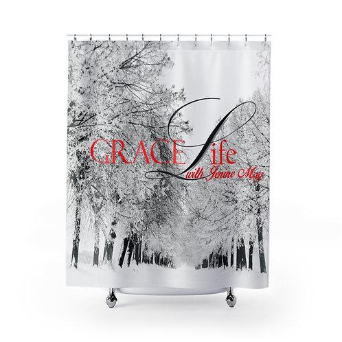 Grace Life Snow Shower Curtain