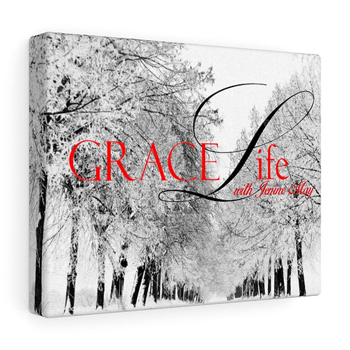 Grace Life Red and Black Gallery Wraps