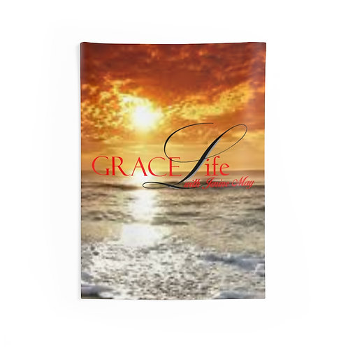 Grace Life Sunset Wall Tapestries