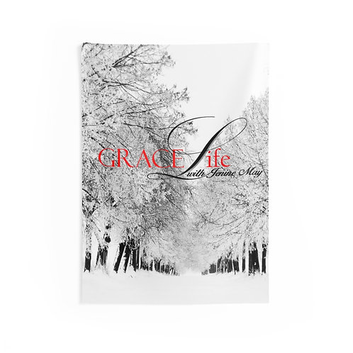 Grace Life Snow Indoor Wall Tapestries