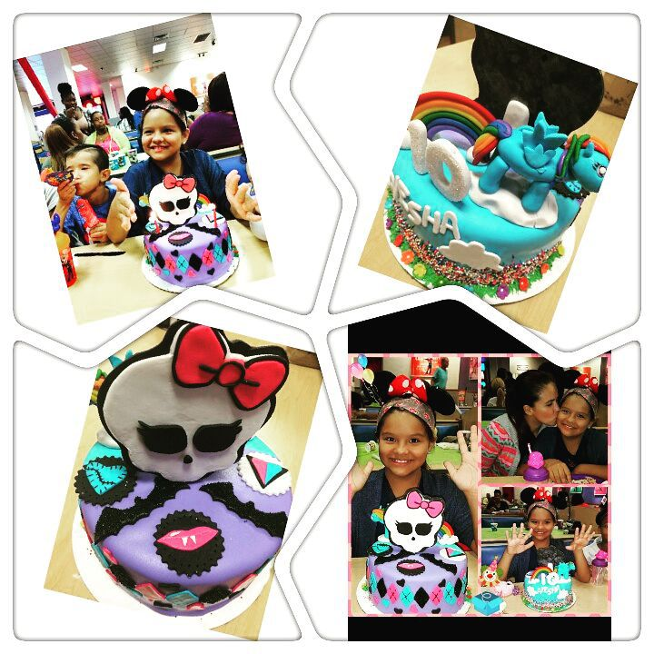 Monster high and My little pony cake