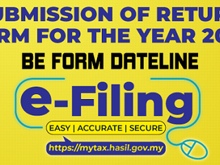 BE form e-filing dateline on 15 May 2021