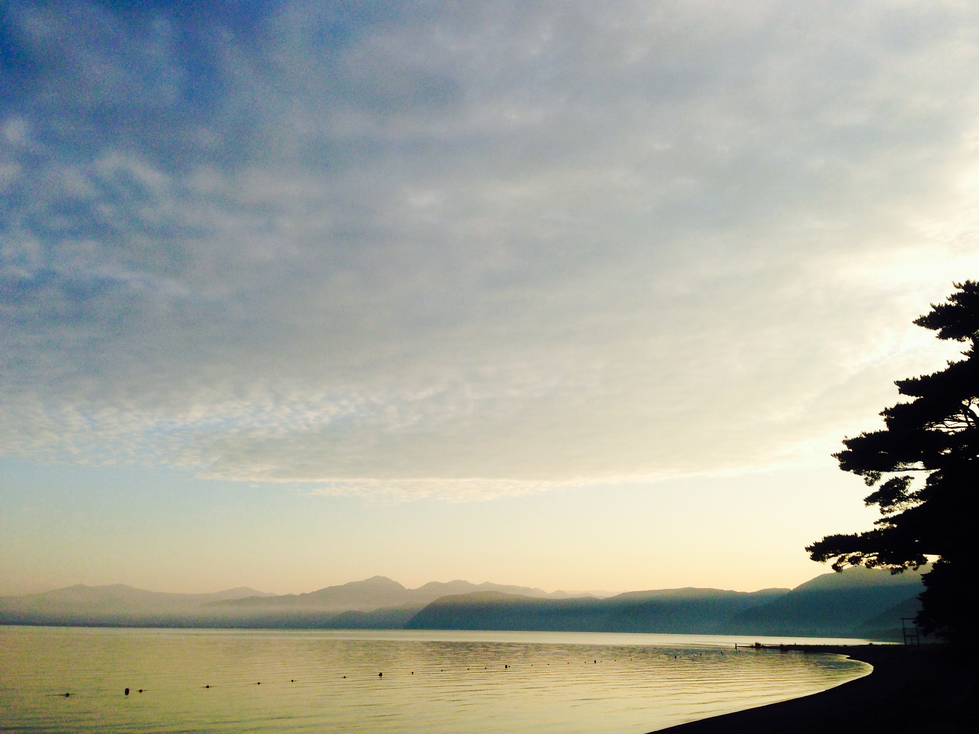 Sun Rise in Lake Inawashiro 2