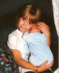Suzanna with her brothe1994