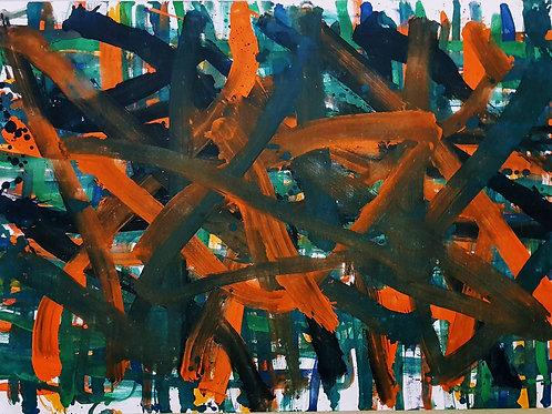 PB#GREEN 0,84cm x 1,20cm Oil/Canvas