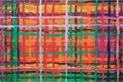 GRID ORANGE 0,90cm x 1,80cm Oil/Canvas