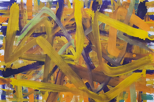 PB#YELLOW 0,84cm x 1,20cm Oil/Canvas