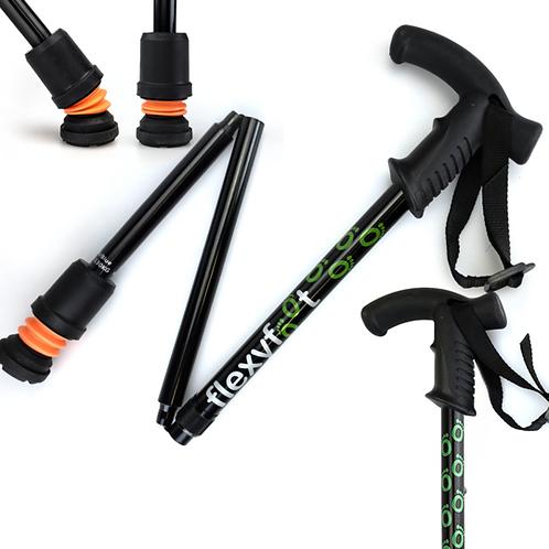 FLEXYFOOT Premium Derby Handle Folding Walking Stick