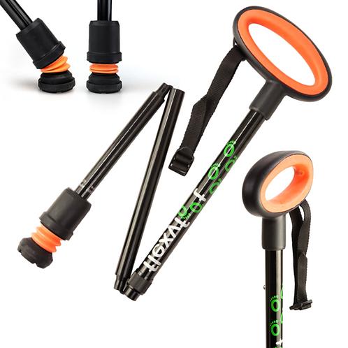 FLEXYFOOT Premium Oval Handle Folding Walking Stick