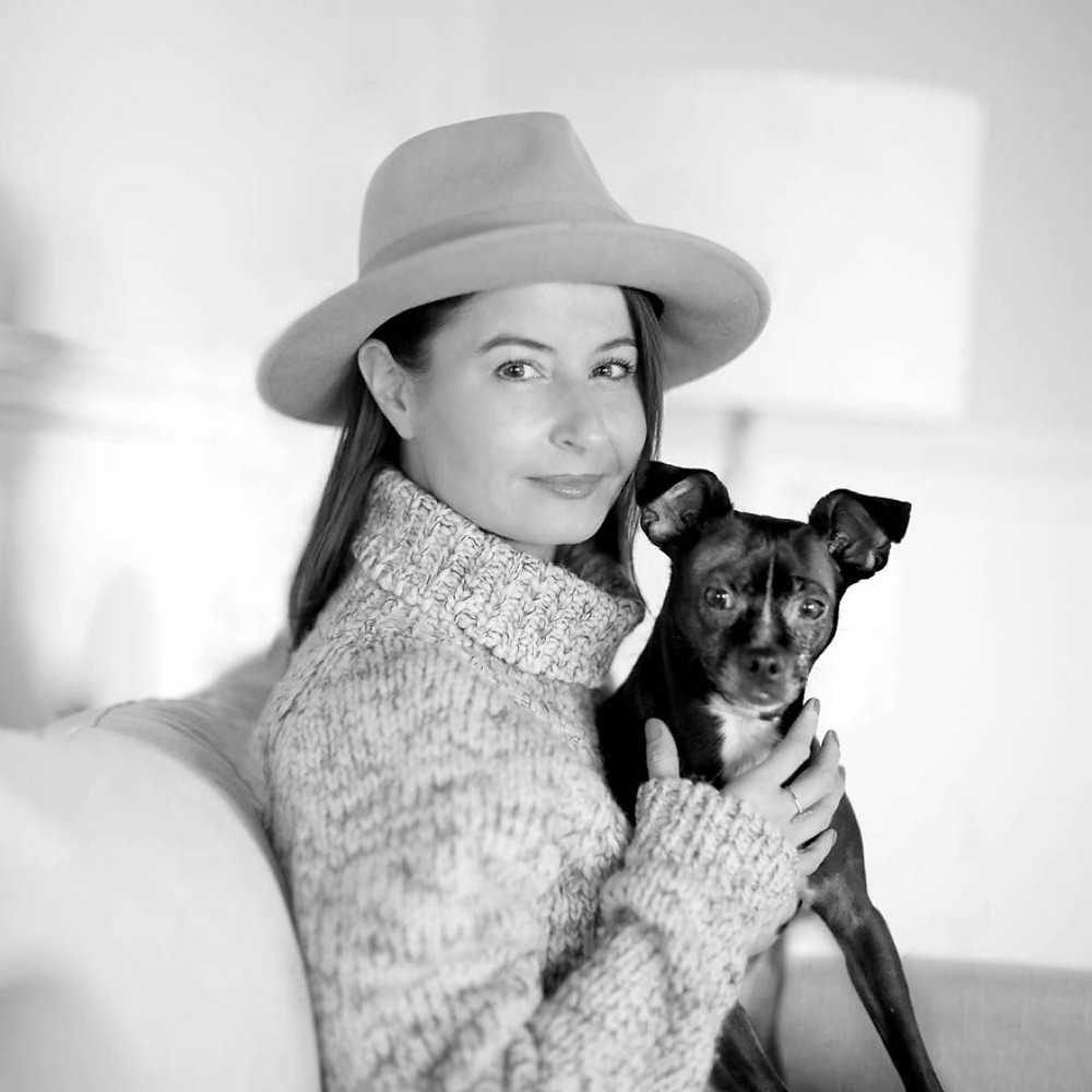 Rebeka Breder Animal Law Lawyer with her Rescue Dog Bowen