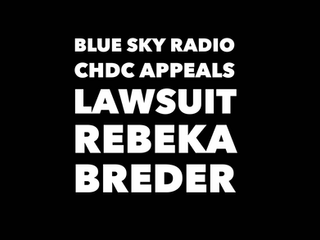 Blue Sky Radio CHDC Appeals Lawsuit