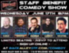 DTF Comedy Show in Fullerton June 17 202 featuring comedian's Anthony davis, Alfonso Ochoa, Keith Carey, Brandon Vestal, Matt Coal