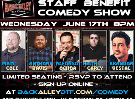 Benefit Comedy Show in Fullerton - Live Streamed