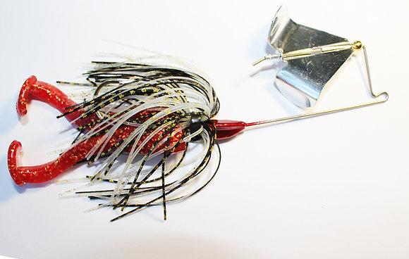 4/0 Buzz Bait - Red Bug with 1/4 oz head